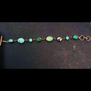 Vtg Navajo Nana Turquoise Sterling Silver Bracelet